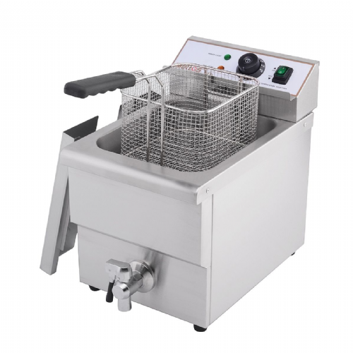 Deep Fat Fryer 8 Ltr Single Tank & Tap - DF-8L